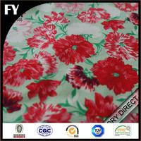 Custom design high quality digital printing 100% cotton sateen fabric for bedding