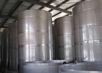 Stainless steel industrial alcohol fermentation tank, yeast for alcohol fermentation