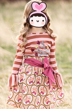 2015 New Fashion Girls Strip And Polka Dots Children's Long Sleeve Dresses KidsCasual cotton dress baby girl autumn dresses