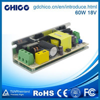 60W 18V stage lighting waterproof led driver CC060A