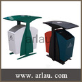 de metal al aire libre cubos de basura doble (Arlau BS32)