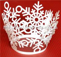 modern design! laser cut snowflake cupcake wrapper christmas craft ideas