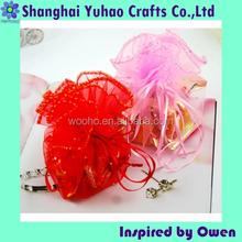 Custom mini organza drawstring bags