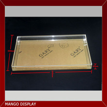 Transparent acrylic display tray with lid