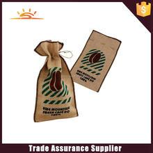 Yiwu hot selling high quality jute drawstring bag