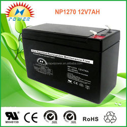 ups battery 12V 7ah rechargeable lead acid battery used Emergence light and security system