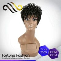 Top Quality Soft And Luster Halle Berry Short Style Brazilian Virgin Hair Full Lace Wig