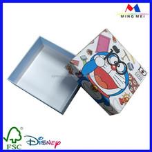 Accept custom order doraemon printed cardboard gift boxes