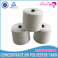 45/2 Best price and high quality 100% raw white polyester sewing thread