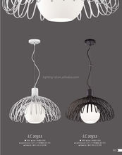 2014 Sell-well artistic pendant lamp/iron wire pendant lamp