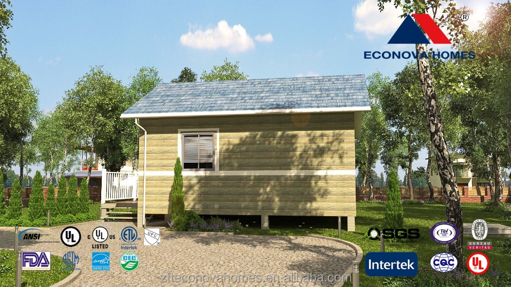 2 bedrooms well designed prefabricated house with solar for Well designed homes