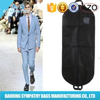 2015 non woven foldable garment bag/suit cover/men suit cloth bag