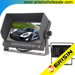 """Erisin ES322 7"""" Car TFT LCD Monitor with 2 Video Audio Input"""