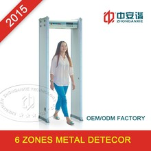 Bus Station/Airport High Sensitivity Walk-through Metal Detector with LED/LCD Displaying Panel