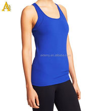 Customed logo color fitness tank top new design gym tank top