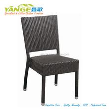 modern plastic rattan chair stackable resin wicker chair C010