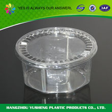 Various widely used plastic food containers with sealed lid