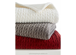 hotel quilt throw ribbed pattern