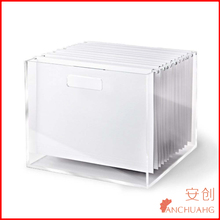 Clear Acrylic Office/School Supplies Desk Accessories Desk Organizer File Box