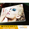 Frameless outdoor advertising light box with canvas led screen