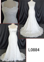 new model 2015 mermaid plus size wedding dress with long tail