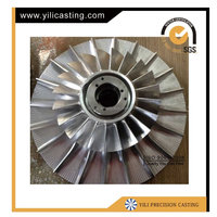 High Quality Five Axis CNC Machining Aluminum Alloy GEMD 126*1659-1 Turbine Impeller Used for Locomotive Turbocharger Parts