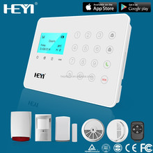 cellular GSM wireless IPHONE / ANDROID APP home security system burglar alarms