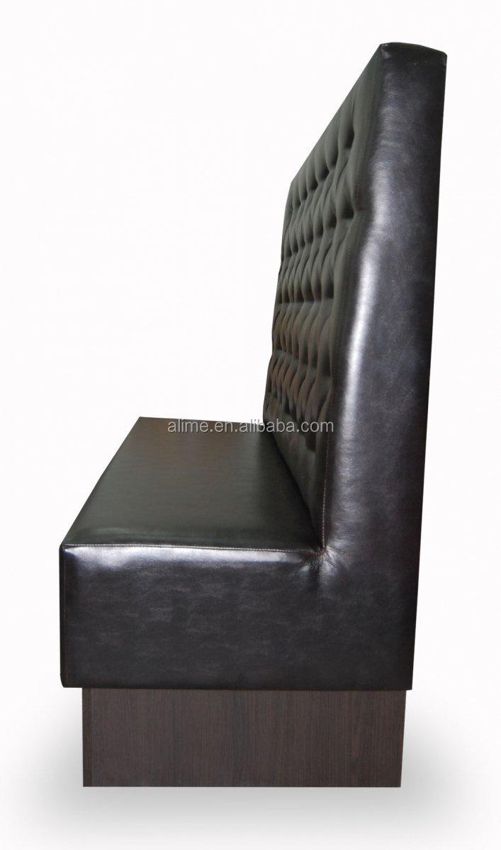 Alime zitplaatsen zwarte lederen restaurant stand bank stoelen ...