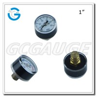 High Quality chrome-plated miniature bourdon tube pressure gauges 111.12.27