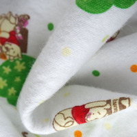 bamboo breathable printed animal pattern quilted flannel laminated 100%cotton terry cloth fabric