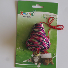 interesting sisal rope cat toy with bell