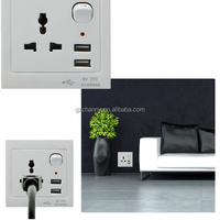 New Best Universal Wall Face Plate Outlet Dual 2 USB Port Electric Wall Charger Socket Adapter Power Outlet Panel Faceplate