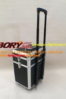 Fashionable and Luxury design aluminum luggage tool box/case rolling tool chest