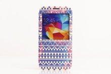 venta al por mayor 2014 tapa de cuero de la pu caja del teléfono para samsung s5