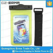 Clear PVC Waterproof Bag Armband for iphone 6 for Songkran Water Festival with Arm Strap