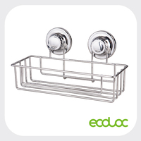 ECOLOC suction cup stainless steel chrome plated wire bathroom organizer rack