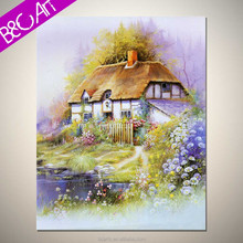 Delicate traditional wall art beautiful landscape rural house oil painting