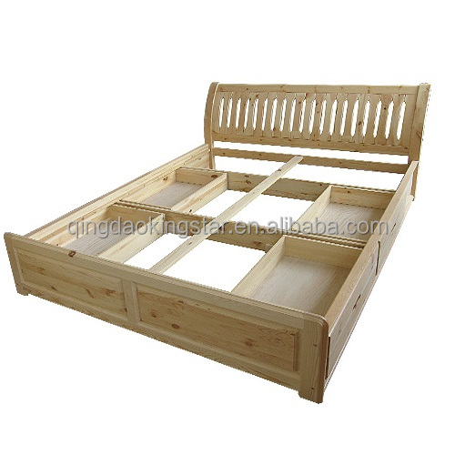 moderne durable lit double en bois avec tiroirs literie id de produit 1993945478. Black Bedroom Furniture Sets. Home Design Ideas
