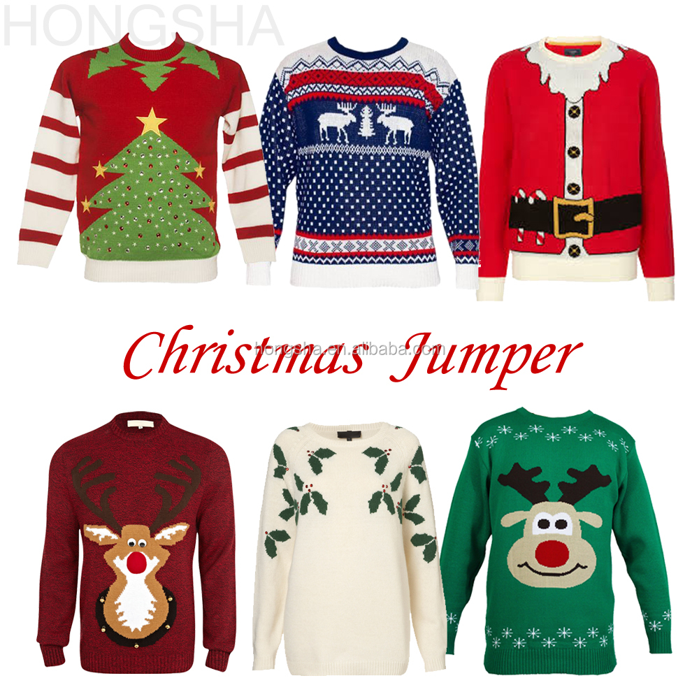 christmas sweater custom woman knitted christmas jumpers hss1401jpg - Custom Christmas Sweater