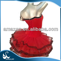 Dance wear supplier 2015 new style Fitting Performance pink striped tutu dress