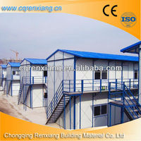 2012 China Flat Roof 3 Storey Beautiful Cheap Prefab Camp House