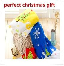 christmas 100%cotton velvet cloth printed beach towel gift
