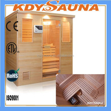 6-person sauna and steam combined room KD-8006SCB,outdoor sauna steam room, Wood steam sauna room