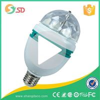 Hot selling 3W 6W RGB colored light E27 rotating led stage using low price Christmas party light disco crystal magic light bulb