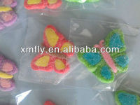 Butterfly shaped sugar coated cotton candy