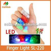 Hot Sale For Halloween Gift Laster Finger LED 4 Colors Mini Lamp Ring Flash Light Beam Finger Light LED Toyts Wholesale