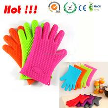 Гриль барбекю перчатки перчатки руки для приготовления пищи / выпечки перчатки с силиконовым