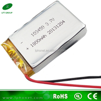 103450 battery lipo 3.7v 1800mah blue soft lithium-ion polymer battery pack cells for POS machine