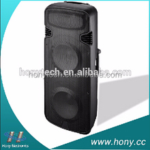 "High end dual 15"" woofer 3-way speaker box for public event"