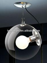 diseño italiano transparente de vidrio de la lámpara mundial